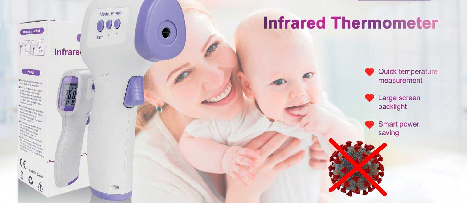 Infrared Forehead Thermometer Netum ET-900 - No COVID-19