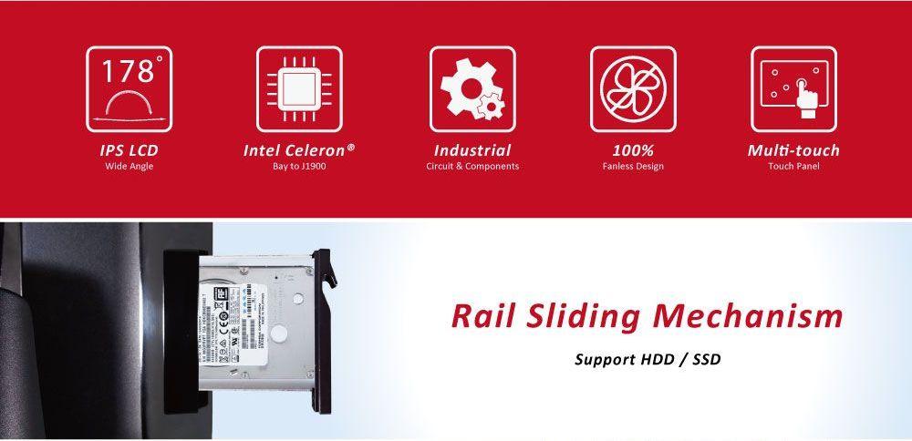 WavePOS 68 | Rail Sliding Mechanism - Support HDD/SSD